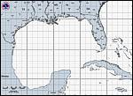 Gulf of Mexico Hurricane Tracking Map