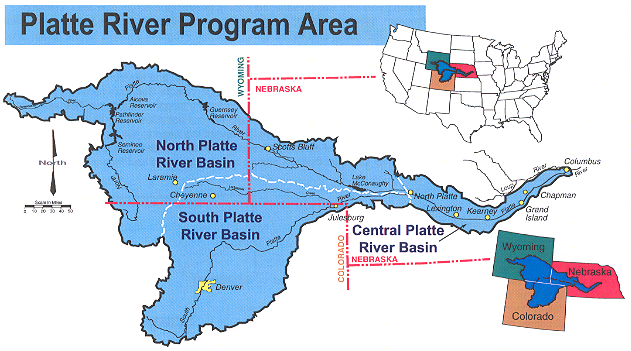 Flooding Along The Platte River - Nebraska rivers map