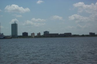 Scenes from Lake Charles - Downtown and the shore line