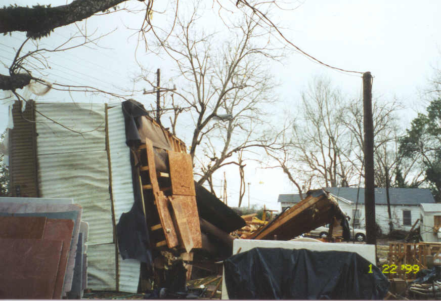 Mobile home destroyed
