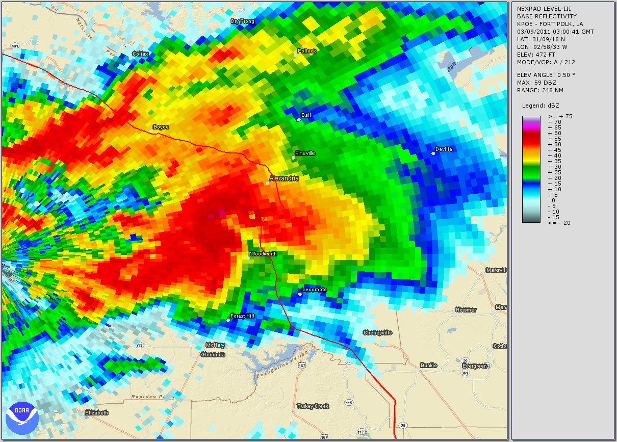 Woodworth Tornado Radar Reflectivity Animation