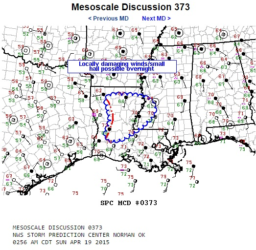 Mesoscale discussion 373 image