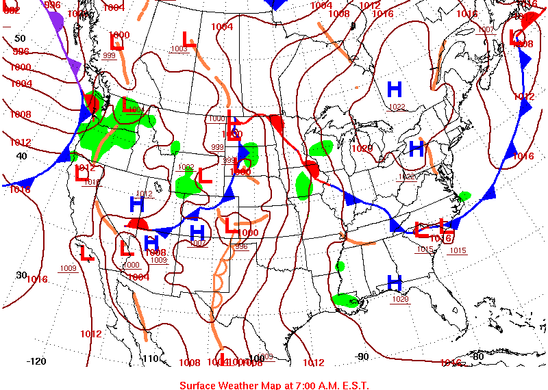 Surface map image