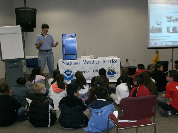 Donovan Landreneau explains the Hurricane Generator Experiment.