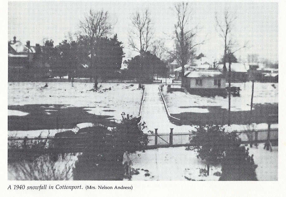 January 23, 1940 Cottonport Snow image