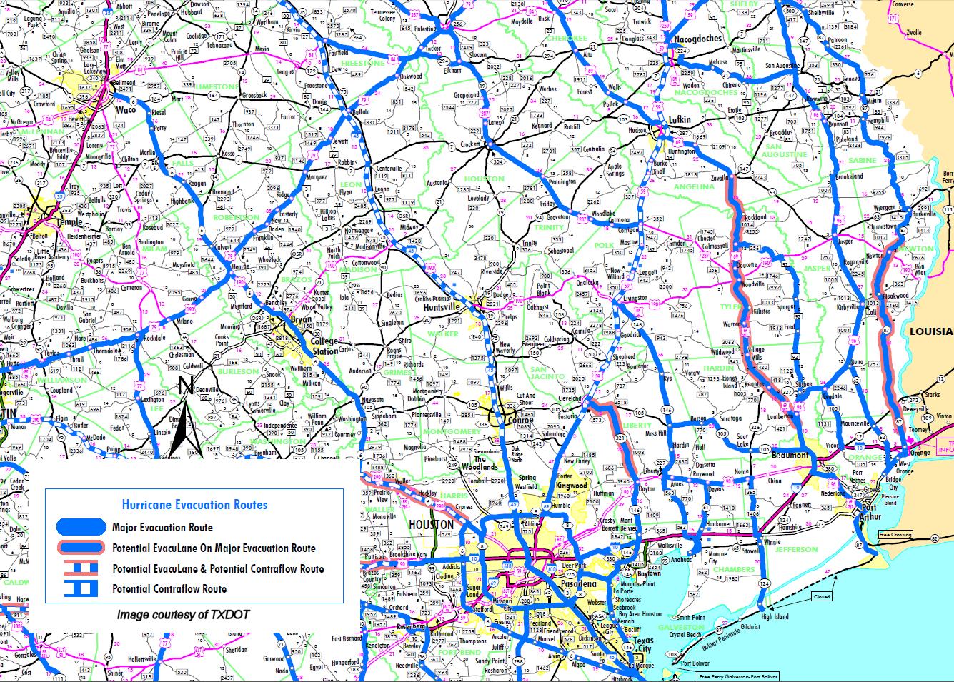 tropical weather - evacuation maps sw la