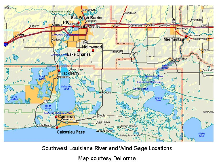 SW Louisiana map image for Rita