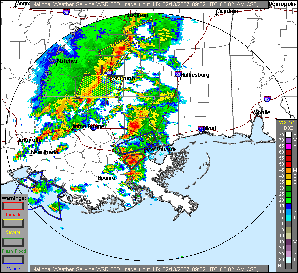 Nws Lix 13 February 2007 New Orleans Area Tornadoes