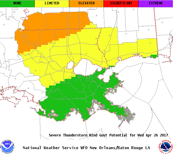 New OrleansBaton Rouge - Us weather service map