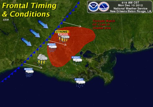 NWS New Orleans/Baton Rouge    December 10, 2012 Severe Weather Event