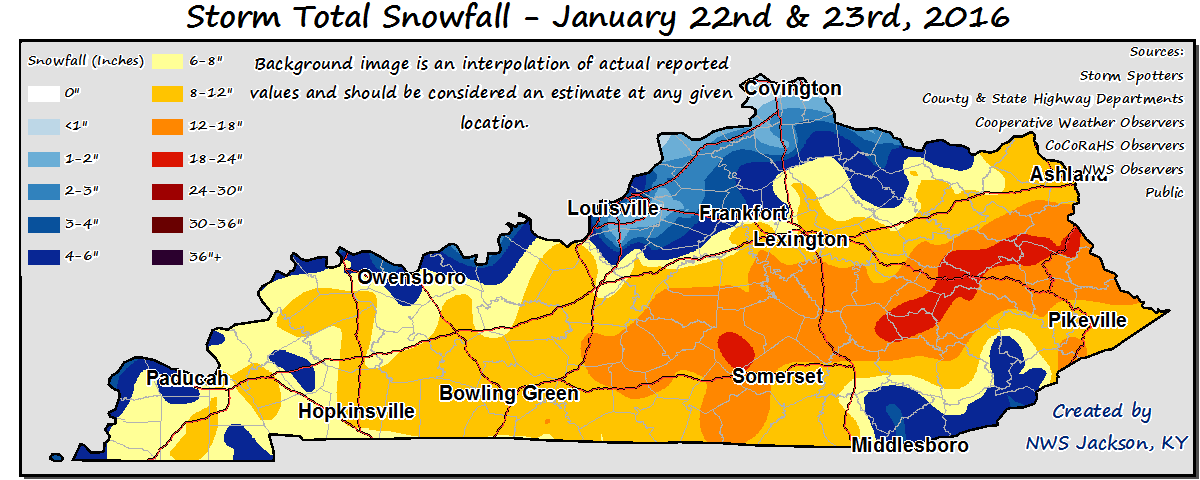 January 22, 2016 Winter Storm Overview and Recap