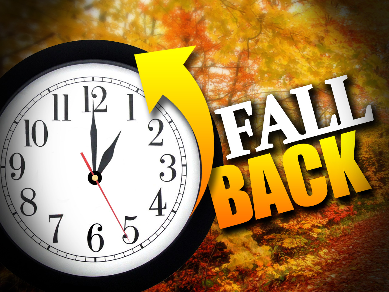 Time Change Tonight...Fall Back 1 Hr