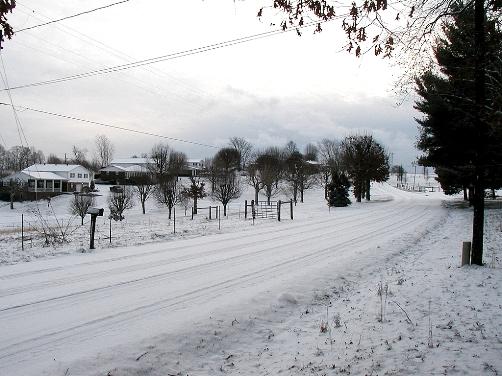 A snowy day in Gamaliel February 4, 2007