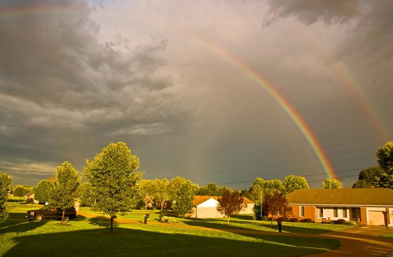 Rainbow over Shepherdsville, Kentucky September 2005