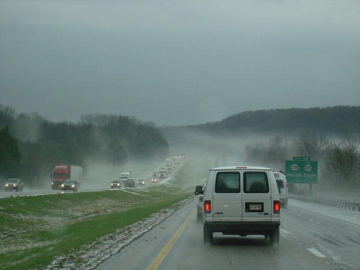 Hail fog
