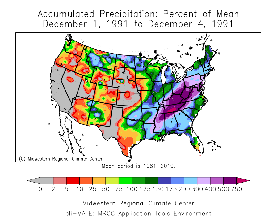 Purple Colors On This Map Show Well Above Normal Rainfall Across Much Of The Eastern Third Of The United States In Conjunction With The Slow Moving Front