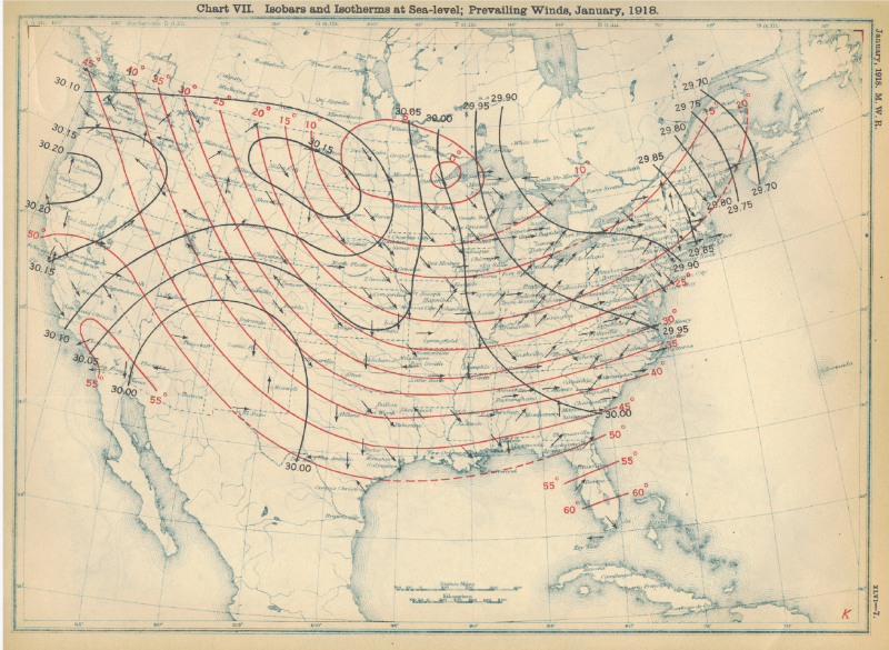 Isobars, Isotherms, and Prevailing Winds