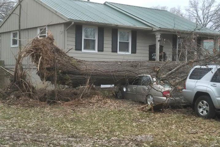 Wind damage March 14, 2019 in Louisville