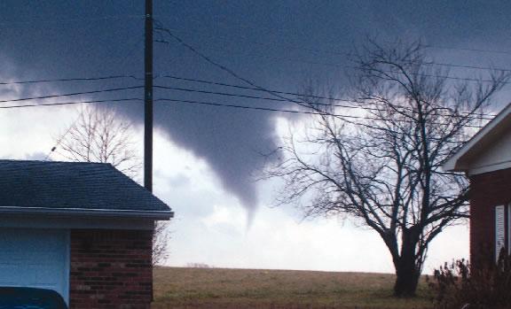 Funnel cloud in Hardin County January 2, 2006