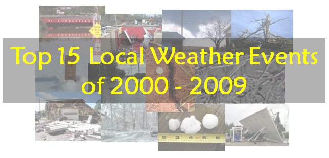 Top 15 Local Weather Events of 2000-2009