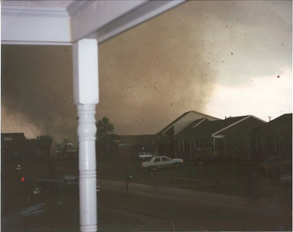 Bullitt County tornado from the porch
