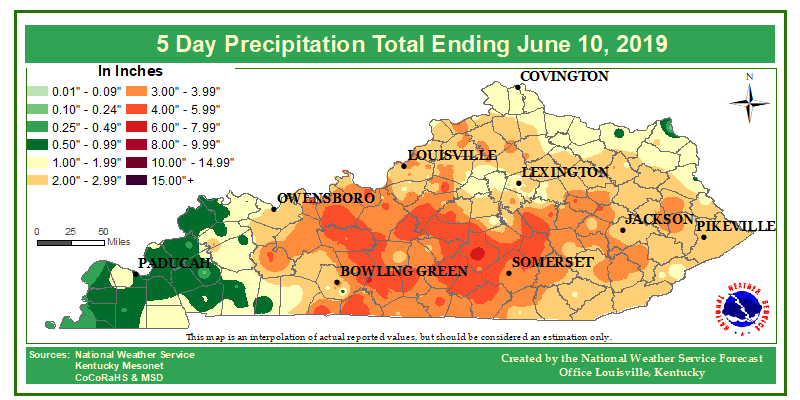 5 Day Accumulated Rainfall Maps