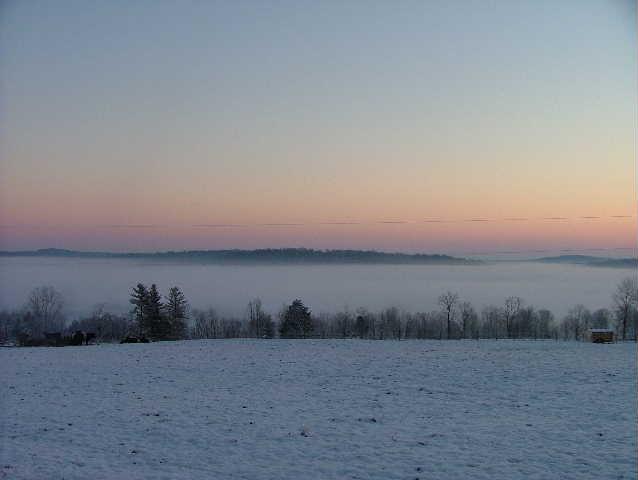 Valley fog in Harrison County, IN