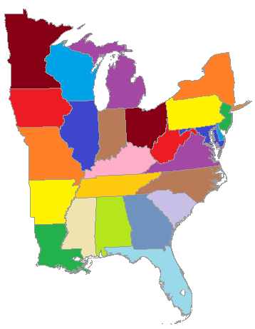 Color travel map