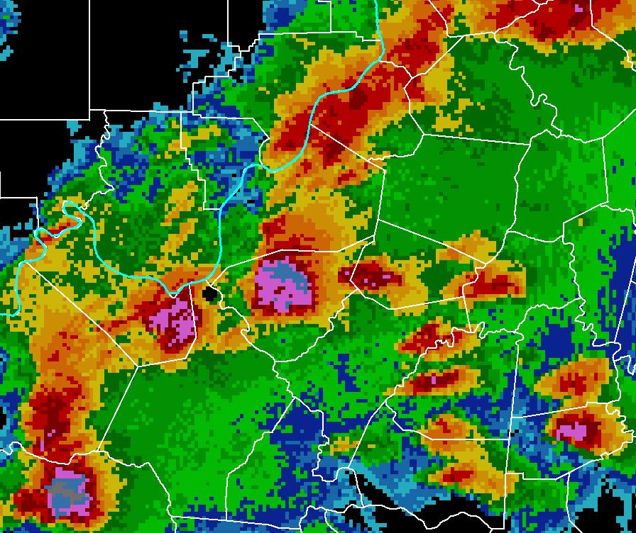 NWS Louisville Doppler Radar Example Data