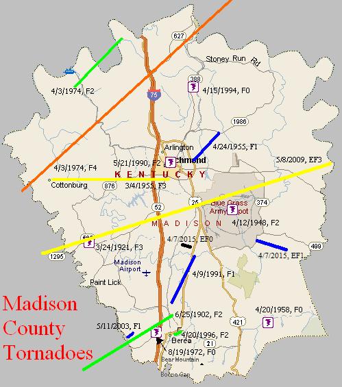 Tornado Climatology of Madison County