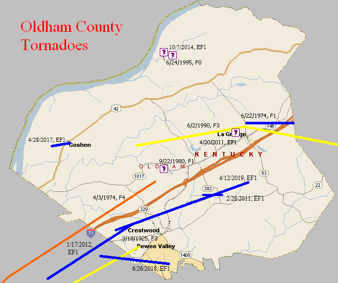 Tornado Climatology of Oldham County