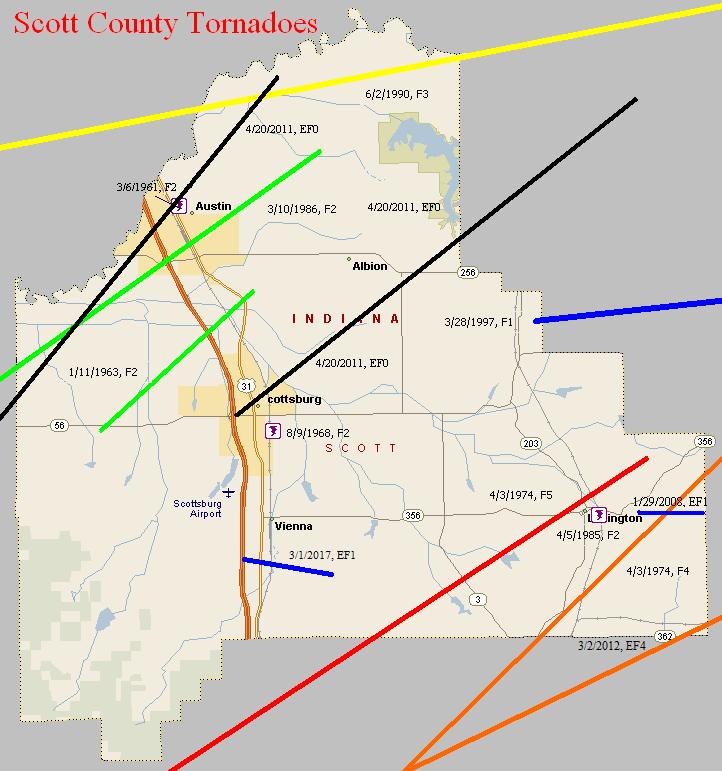 Tornado Climatology Of Scott County  Indiana