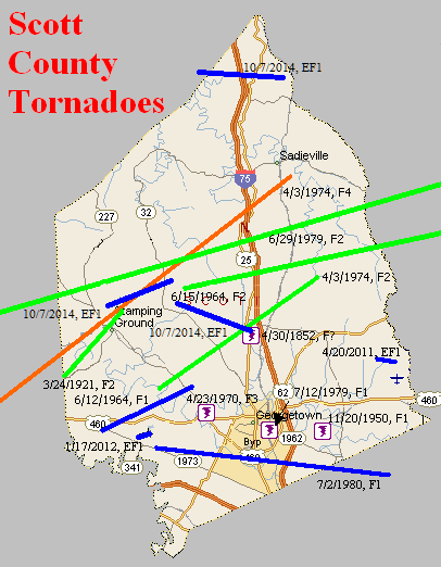 Tornado Climatology of Scott County, Kentucky