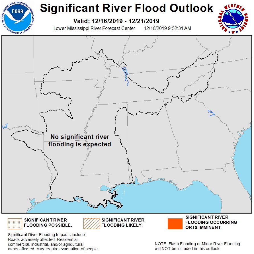 LMRFC area map showing the 5-day significant flood outlook potential.