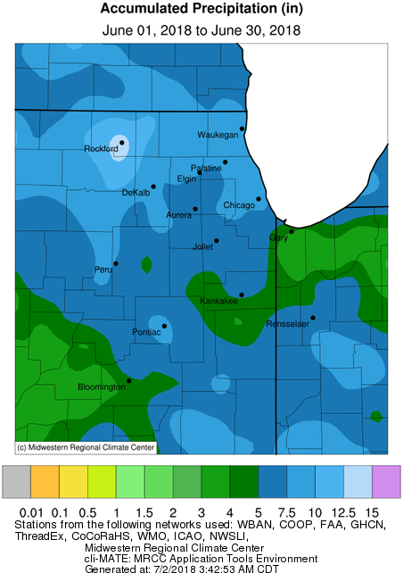 Rockford Weather Map.June 2018 Climate Review Wettest Month On Record For Rockford
