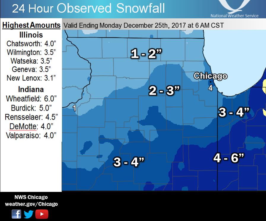 24 Hour Snowfall