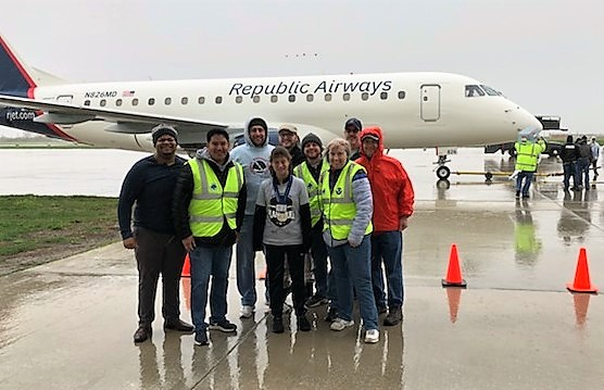 NWS Chicago team at the Lewis University Plane Pull for Special Olympics