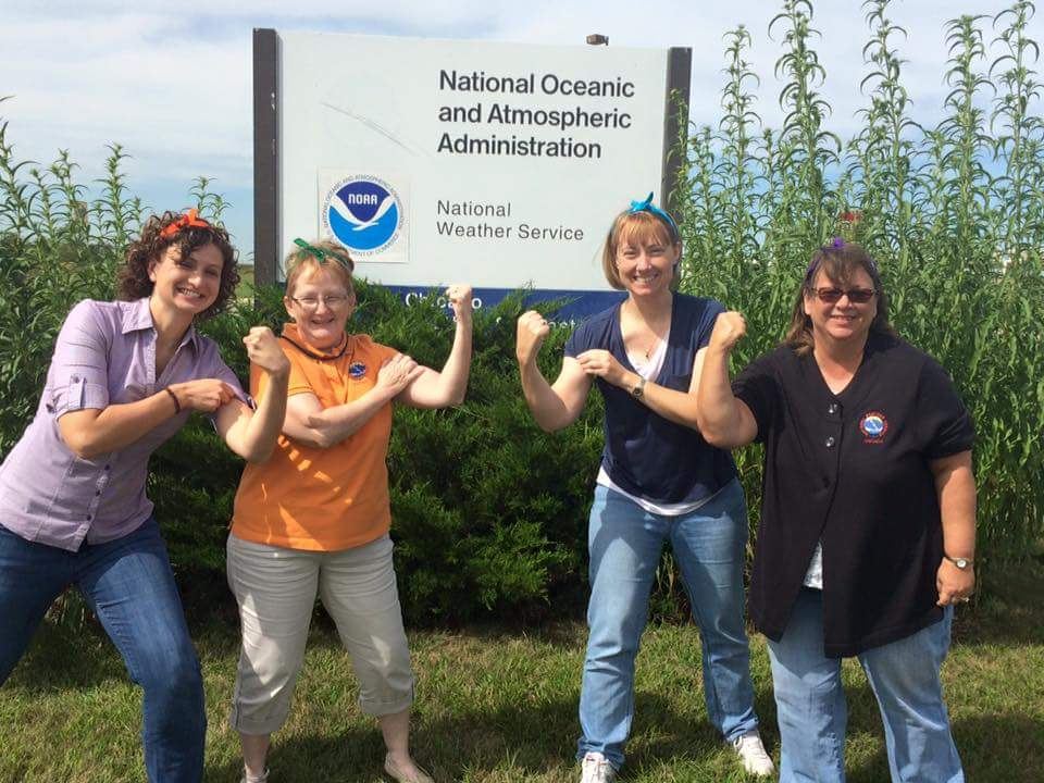 Amy and the women of NWS Chicago celebrating women in STEM careers