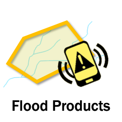 Icon linking to educational information about National Weather Service flood products