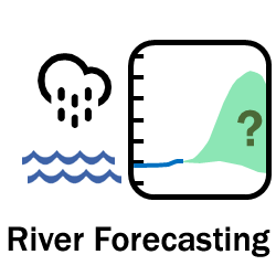 Icon linking to educational information about river forecasting