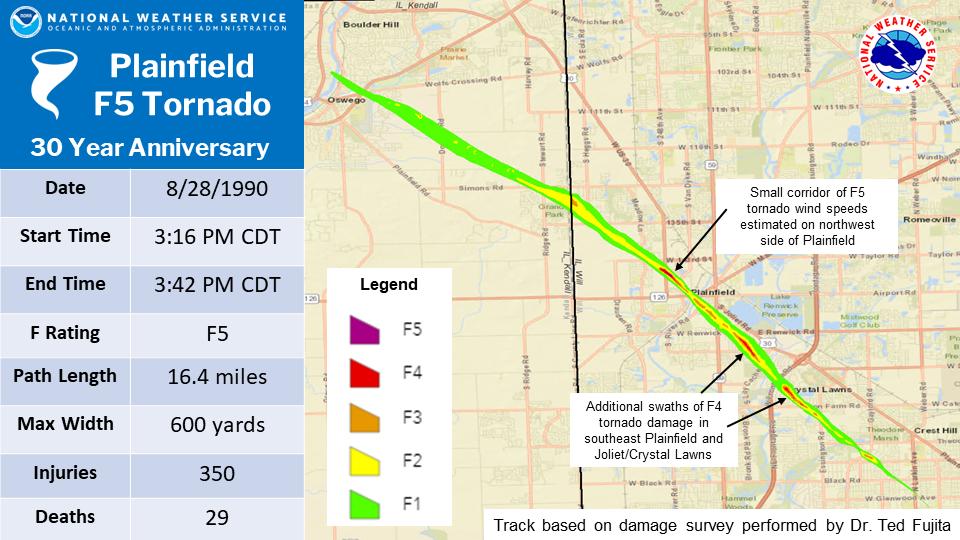 Plainfield Tornado Path