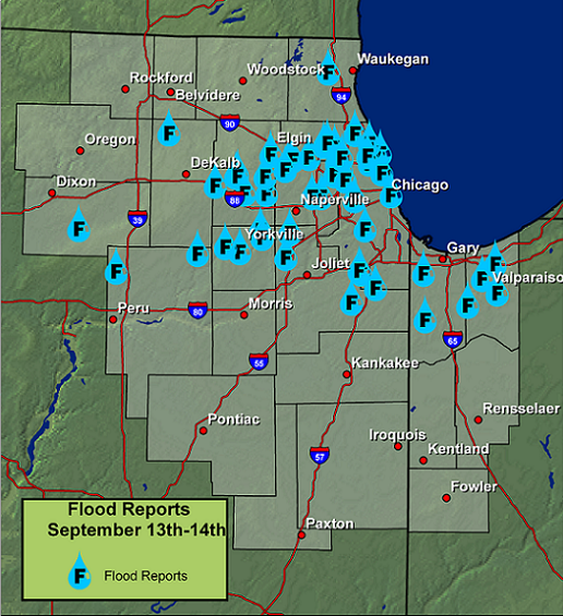 Flood Reports from Sept 13-14, 2008