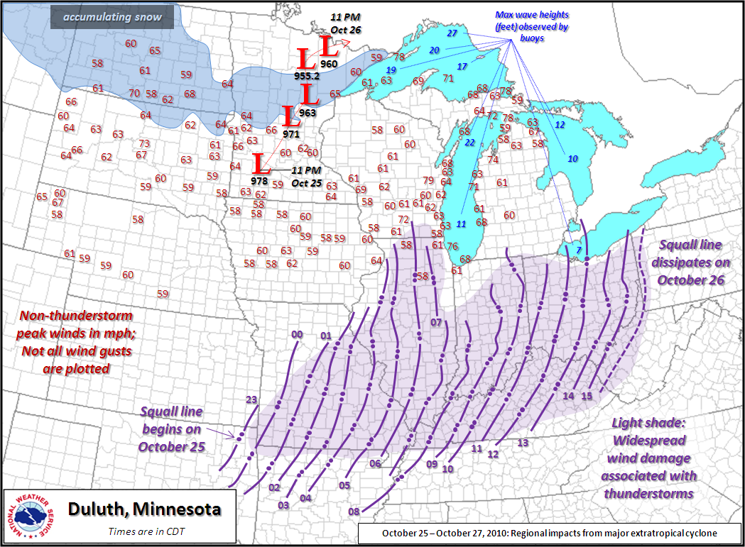 National Weather Map Pressure.October 26 2010 Tornadoes Damaging Winds From Extremely Deep Low