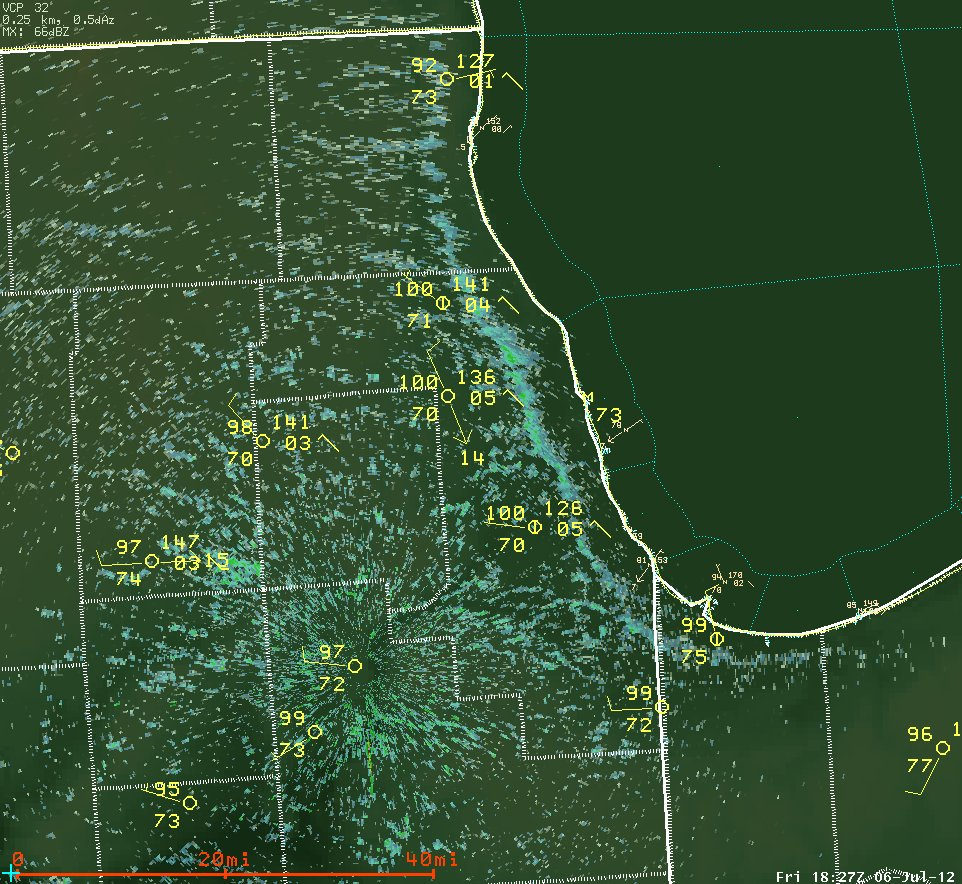 Lake Breeze Seen on Radar