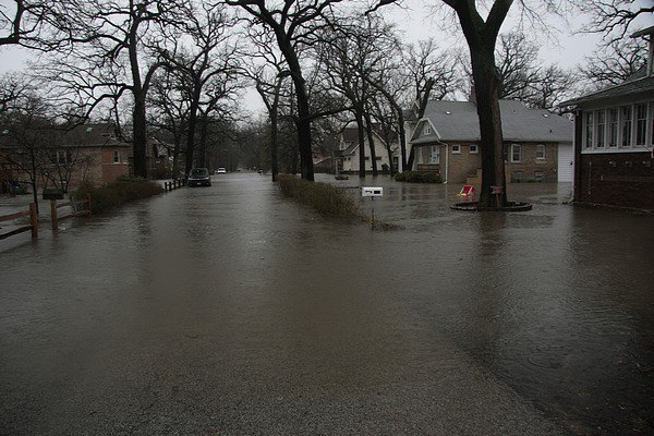 From Riverside Lawn on the south side of the Des Plaines River. Courtesy of William Ruting.