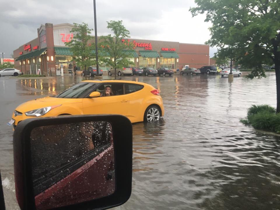 MInor flooding in Berwyn, IL