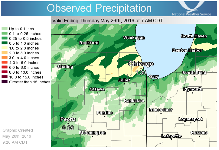 24 Hour Precipitation Ending at 7 am May 26