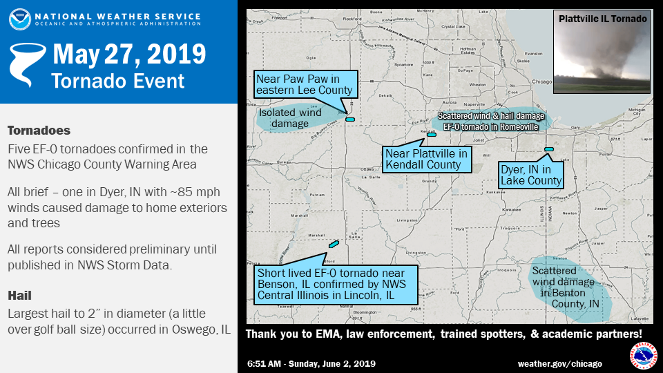 Memorial Day Severe Weather Five Ef 0 Tornadoes Confirmed In