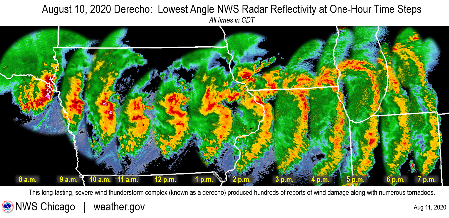 Weather In Bartlett Il On Christmas Eve 2020 August 10, 2020: Derecho Brings Widespread Severe Wind Damage