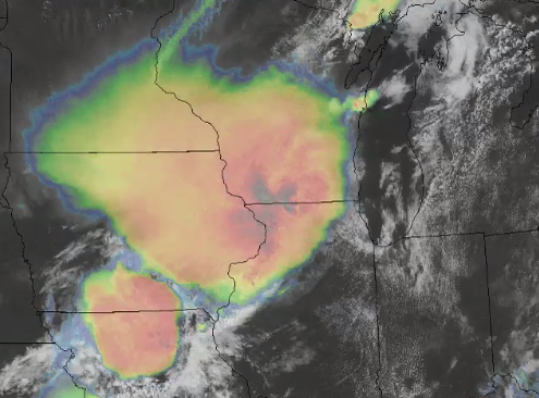 Satellite animation of 10 August 2020 derecho